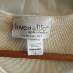 Love This Life Tops - 🎃🎃Love This Life White Ribbed Tank